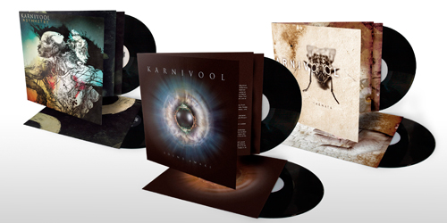 All three albums available on vinyl